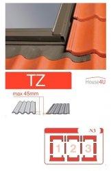 Kombi-Eindeckrahmen Optilight TZ-N3 Eindeckrahmen - für profilierte Eindeckmaterialien / Profilbeläge bis zu 4,5 cm hoch Profil