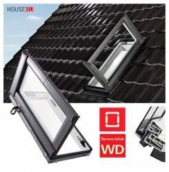 Designo R3 Wohndachausstieg Ausstiegsfenster Roto WDA R35 K AL_ WD aus Kunstoff für nutzräume mit Wärmedämmblock, für gedämmte Dachräume