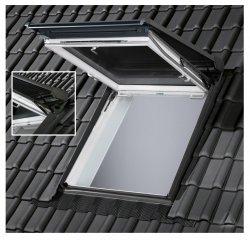 VELUX Solar-Rollladen SST 0000 Außenrollladen Aluminium dunkelgrau VELUX INTEGRA® für Wohn- und Ausstiegsfenster (GTU/GTL)