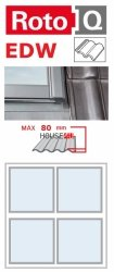 Kombi-Eindeckrahmen Roto Q-4 EDW 2/2 Eindeckrahmen - für profilierte Eindeckmaterialien / Profilbeläge bis zu 8 cm hoch Profil
