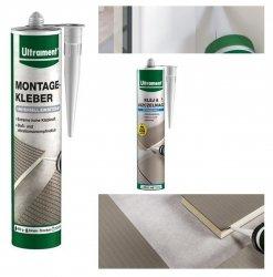 Ultrament Do it Klebe- und Dichtpower  300 ml ≈ 3 mb, zum Kleben und Versiegeln von Elementen von Bauplatten, Türschwellen, Fensterbänken, Paneelen, Zierleisten