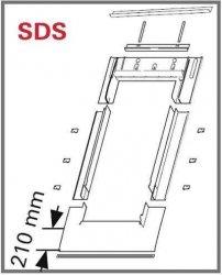 Eindeckrahmen Roto EDR SDS für Flachdecken Eindeckmaterialien mit WD