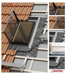 Dachluken OKPOL VERSA WVD+ 80X80 Ausstiegsfenster jetzt mit neuen Eindeckrahmen, für ungeheizte Räume
