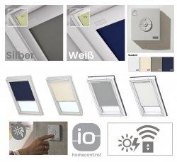 VELUX DSL Standard INTEGRA® Solar-Verdunkelungsrollo für VELUX Dachfenster, Pick&Click ®-Systems, dreilagigen Oeko-Tex®-Stoff