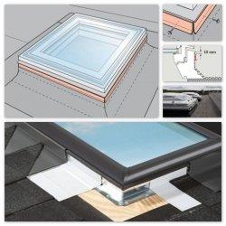 ROOFLITE Kappleisten-Set FAF für FRF ROOFLITE Flachdach-Fenster B600 / FRE B600, dichte Verbindung zwischen dem Rahmen und die Dacheindeckung