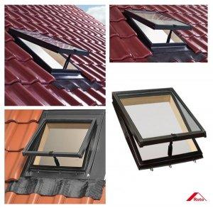 OUTLET: Ausstiegsfenster Roto R20 EDZ SB L/R (WDL R27 H) Dachausstieg Lucarno mit Klapp-Funktion Kalt-Dachausstieg / Öffnung nach oben 45cm x 55cm (4/5) Versand 48h