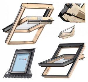 VELUX Dachfenster Schwingfenster GGL 3050 Uw=1,3 Holz klar lackiert Standard Verglasung