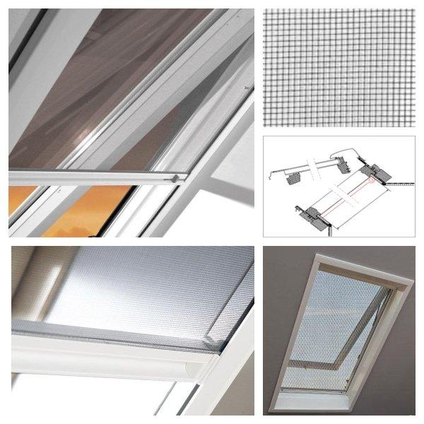 Insektenschutzrollo ZRI 84/R8 S-300 für Dachfenster Designo R8