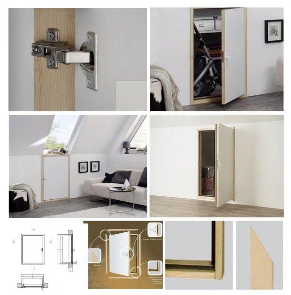 Fakro  Kniestocktür  DWK U Wert=1,1 Drempeltür mit Standard Wärmedämmung Stärke der Dämmung 3cm www.house-4u.de