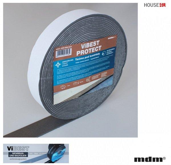 MDM® ViBEST Klebeband PROTECT Nageldichtband unter Konterlatten zur Abdichtung Klebebaender Unterdeck-Unterspannbahnen 50 mm, Länge 30 m Polyethylenschaum