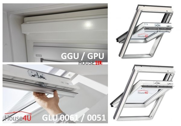 OUTLET: VELUX Dachfenster GLU 0051 CK02 55x78 Uw= 1,3 Schwingfenster Kunststoffqualität mit Dauerlüftung alternativen für THERMO 59 Versand 48H
