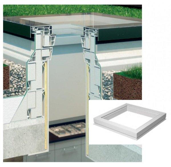 Aufsetzkranz Fakro XRD/W für Flachdach-Ausstiegsfenster und begehbares Fenster DXW
