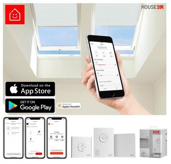 VELUX INTEGRA Dachfenster GGU 006830 Solarfenster Kunststoff Schwingfenster 3-fach-Verglasung Uw= 1,1 ENERGIE Aluminium io-homecontrol® Solar