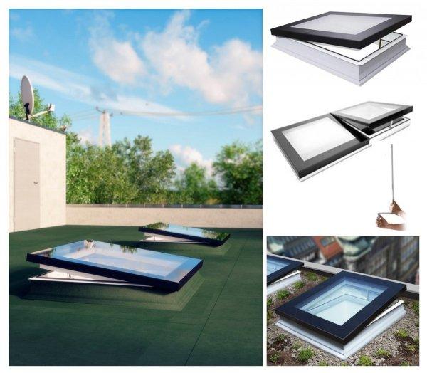 Flachdach-Fenster Fakro DMF DU6 manuelle Steuerung U=0,70 W/m²K 1