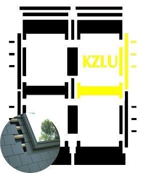 Kombi-Eindeckrahmen Okpol KZLL für flache Biberschwanzeindeckungen www.house-4u.eu