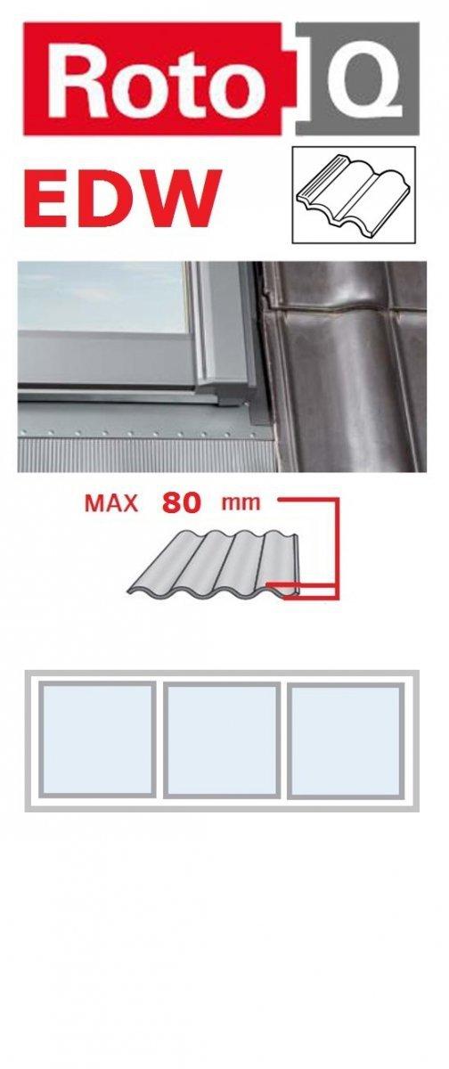 Kombi-Eindeckrahmen Roto Q-4 EDW 3/1 Eindeckrahmen - für profilierte Eindeckmaterialien / Profilbeläge bis zu 8 cm hoch Profil www.house-4u.eu