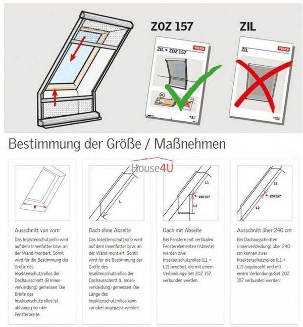 Insektenschutzrollos VELUX ZIL 0000 WL neue Insektenschutz Fliegengitter Manuelle Bedienung, Schutz vor Insekten, Rahmen Weiss _ house-4u.de