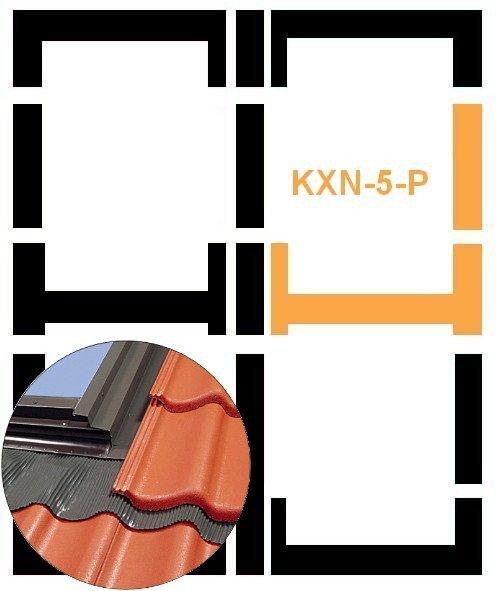 Eindeckrahmen Fakro KXN-6-P Modul für die Kombination übereinander für hochprofilierte Eindeckmaterialien www.house-4u.eu