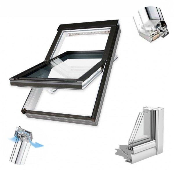 Dachfenster Fakro PTP-V U5 Schwingfenster MIT ERHÖHTER FEUCHTERESISTENZ www.house-4u.eu