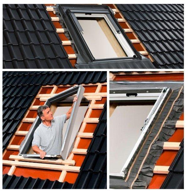 Velux Eindeckrahmen EDZ 2000 mit BDX 2000 Dämmset und EDZ 0000 www.house-4u.eu