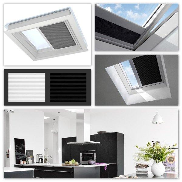 Solar-Wabenplissee Velux FSK für Flachdach-Fenster