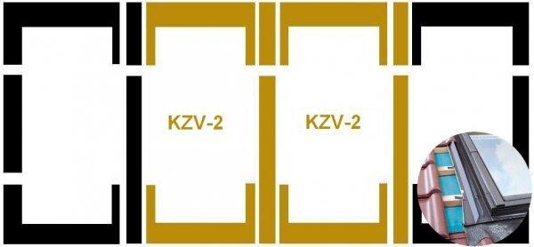 Eindeckrahmen Fakro KZV-2-P Modul für die Kombination übereinander für hochprofilierte Eindeckmaterialien www.house-4u.eu