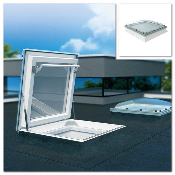 Fakro Flachdach-Ausstiegsfenster DRC-C P2 mit Kuppel www.house-4u.de
