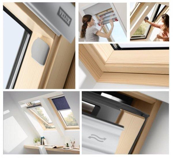 """VELUX INTEGRA® Dachfenster Solarfenster GZL 1054 satz - """"Mach es selbst"""" - Schwingfenster – Solar Automatische Fenstern - satz DIY - GZL / EDZ / KSX 100K  Solar-Nachrüst-Set"""