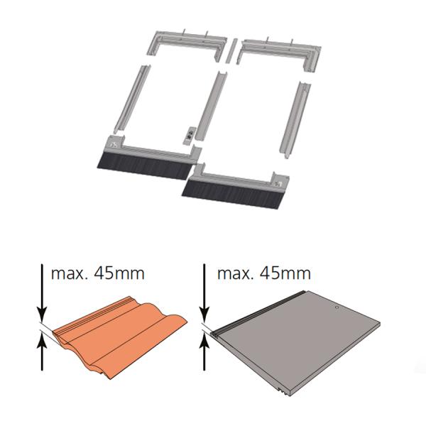 Kombi-Eindeckrahmen keylite CTRF Ziegel(1,5 bis 4,5cm) www.house-4u.de