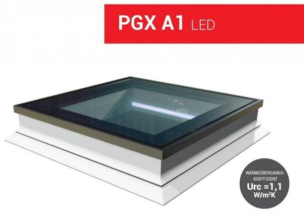 FlachdachFlachdach-Fenster OKPOL PGX A1 PVC Festverglastes Uw=1,1 W/m²K/ Flachverglasung , Innenscheibe aus Verbundglas, Tageslicht für flache Dächer ohne kuppel_ house-4u.de