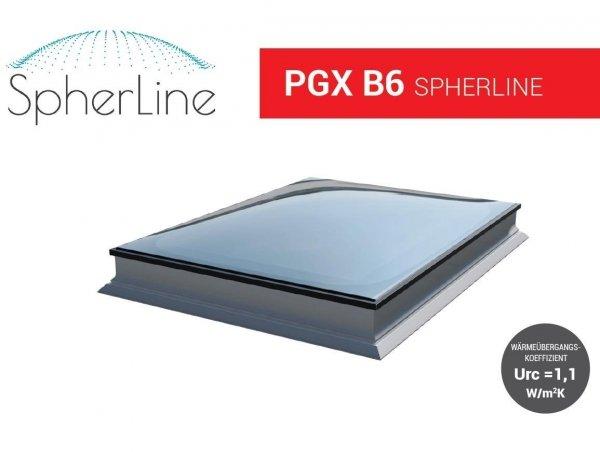 Flachdach-Fenster OKPOL PGX B6 Spherline Festverglastes Uw=1,1 W/m²K* 3-fach-Verglasung_ house-4u.de