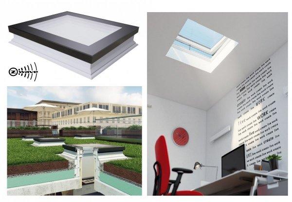Flachdach-Fenster Fakro DEF DU6 Elektrisch Gesteuert U=0,70 W/m²K *