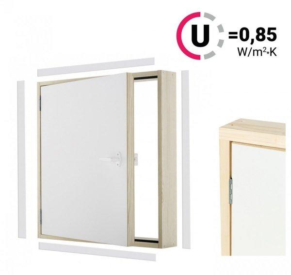 Kniestocktür DK EXTRA thermoisolierte Uw = 0,85 W/m²K Drempeltür mit Wärmedämmung