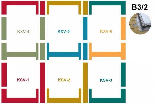 Kombi-Eindeckrahmensystem Fakro KSV B3/2 Für flache Eindeckmaterialien www.house-4u.eu