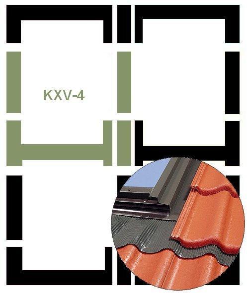 Eindeckrahmen Fakro KXV-4 Modul für die Kombination übereinander www.house-4u.eu