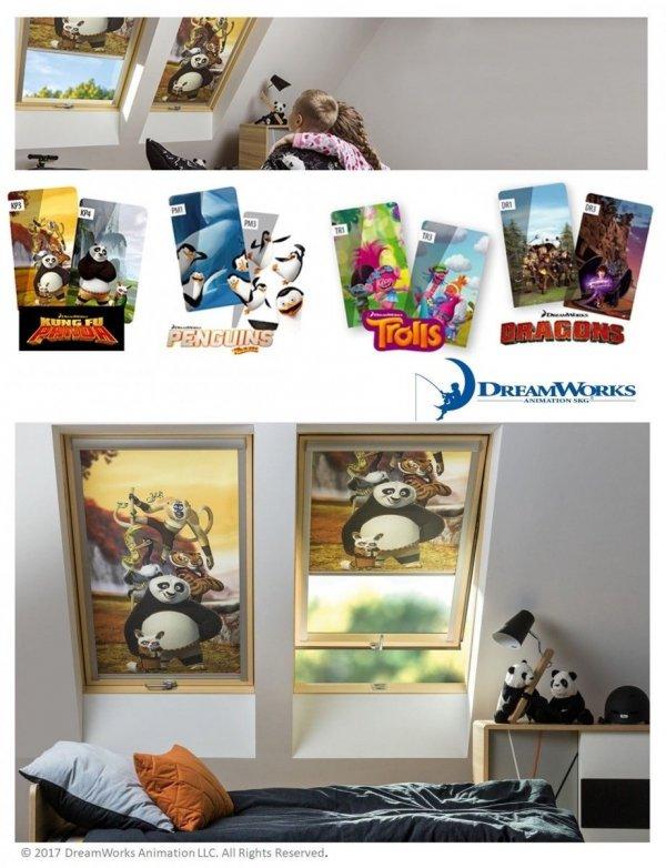 Verdunkelungsrollo FAKRO ARF DreamWorks Sammlung ROLLO Manuell Alle Größen