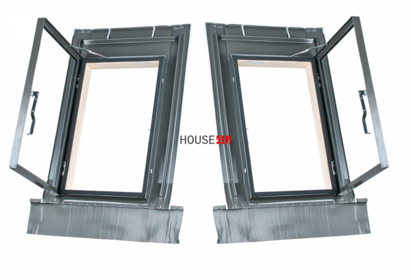Ausstiegsfenster MDM/ Okpol 45x73 Dachausstiegsfenster Dachluke links und rechts für ungeheizte Räume