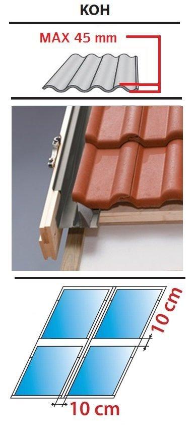 Kombi Eindeckrahmen 2/2 Oman KOF für profilierte Eindeckmaterialien 0 - 45mm www.house-4u.eu