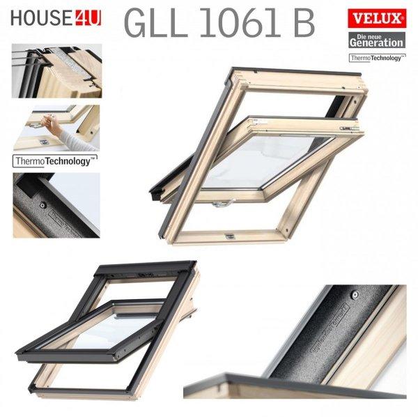 Dachfenster VELUX GLL 1051 B Schwingfenster Holz-Fenster - Boden Griff - house-4u.de
