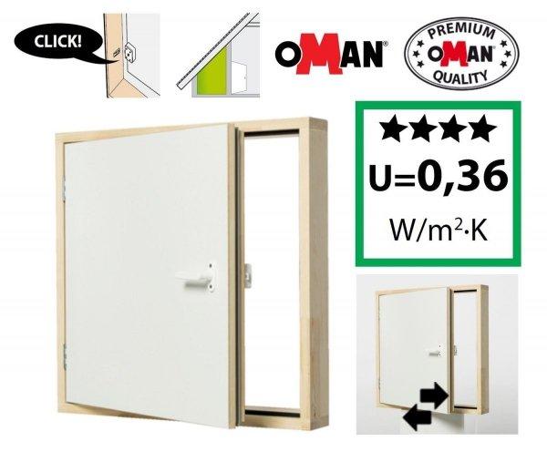 Kniestocktür DK POLAR Ultra-energiesparende U=0,36 Drempeltür mit Wärmedämmung Super-thermoisolierte
