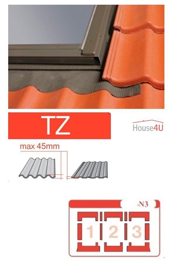 Kombi-Eindeckrahmen Optilight TZ-N3 Eindeckrahmen - für profilierte Eindeckmaterialien / Profilbeläge bis zu 4,5 cm hoch Profil www.house-4u.eu
