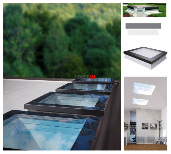 Flachdach-Fenster Fakro DXF DU6 Festelement U=0,70 W/m²K 1
