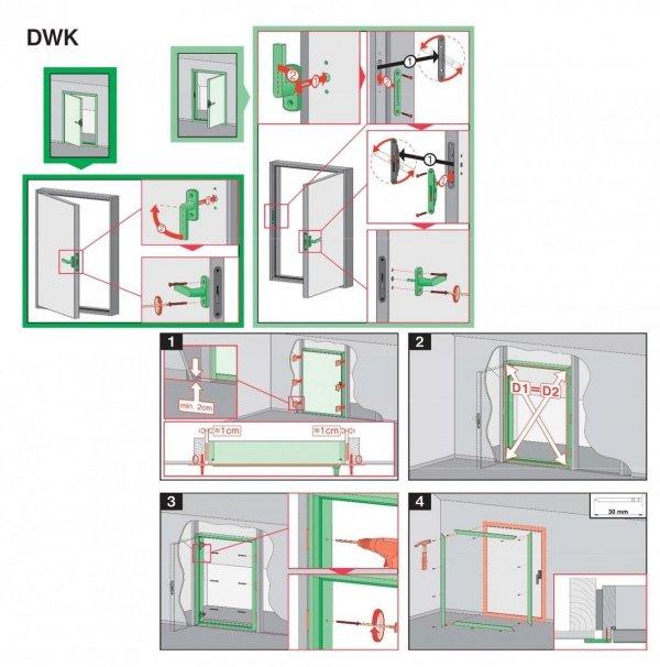 Fakro  Kniestocktür  DWK U Wert=1,1 Drempeltür mit Standard Wärmedämmung Stärke der Dämmung 3cm