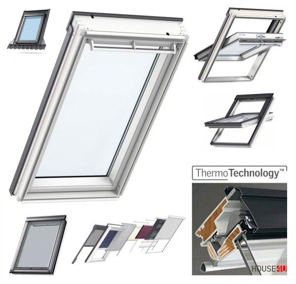 """OUTLET: VELUX Original  Dachfenster GGU 0050 PK06 Uw=1,3 Schwingfenster aus Kunststoff Alternative fur THERMO-STAR  Standard """"Thermo-Technology"""" (EU-Modell)"""