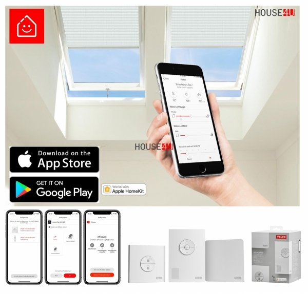 VELUX Elektrofenster VELUX INTEGRA ®GGL 306221 Elektro ENERGIE SCHALLSCHUTZ, Holz klar lackiert www.house-4u.eu