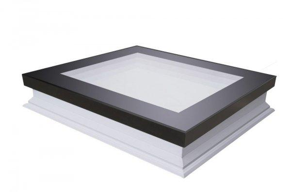 Flachdach-Fenster Fakro DMF DU8 manuelle Steuerung mit 4-fach-Isolierverglasung  U=0,64 W/m²K * Einbruchschutzscheibe Krypton Edelgasfüllung Montagewinkel 2-15