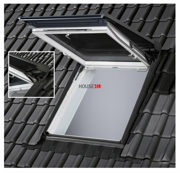 VELUX Solar-Rollladen SST 0000 Aluminium dunkelgrau VELUX INTEGRA® Solar-Rollladen SST für Wohn- und Ausstiegsfenster (GTU/GTL)