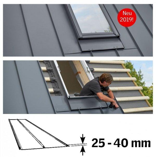 VELUX Eindeckrahmen Dichtungskragen EDQ für Stehfalzprofilbleche zur Dacheindeckung