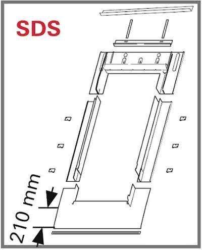Eindeckrahmen Roto Roto EDS Rx200 (EDR SDS+WD) für Flachdecken Eindeckmaterialien mit WD
