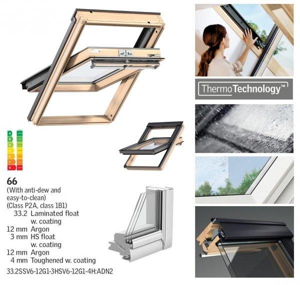 VELUX Dachfenster Schwingfenster GGL 3066 ENERGY-STAR Holz klar lackiert www.house-4u.eu